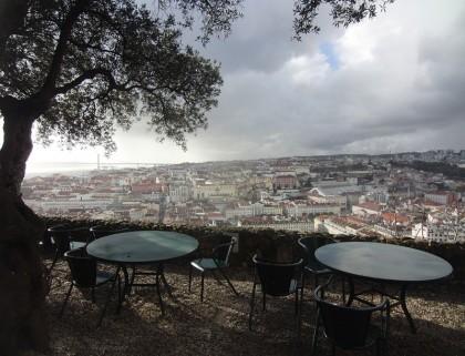 Lisbon café view, Portugal