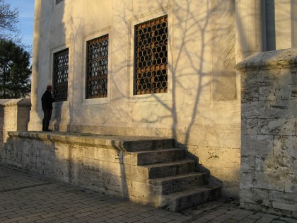 Outside praying