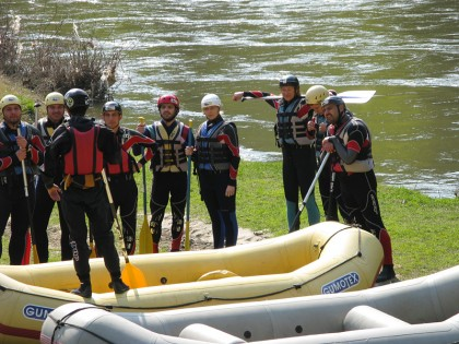 Rafting lesson