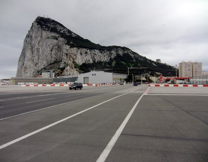 Rock of gibraltar, with Gibraltar airport landing strip