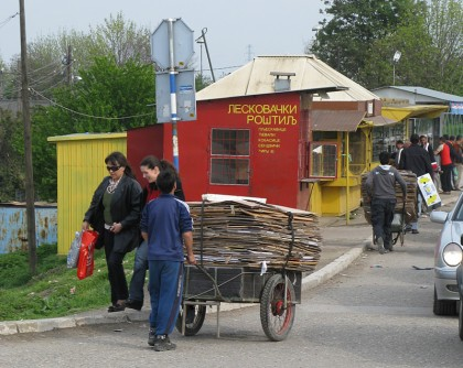 romani gypsy paper collecters