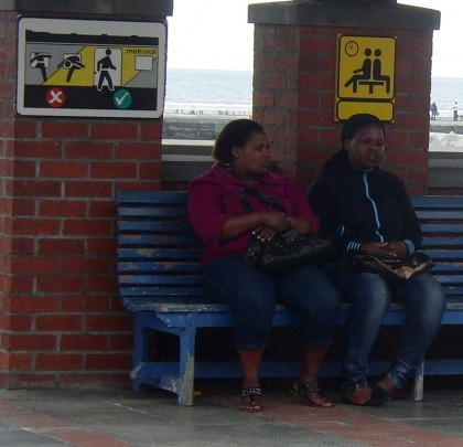 Silly signs, train station in South Africa