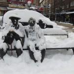 Snowy statue