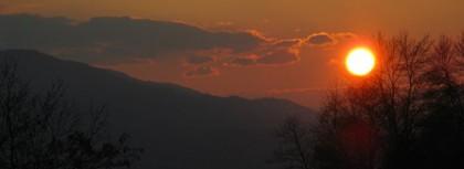 Sunset - end of car trip to Veliko Ternovo