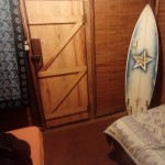 Surfing board room