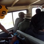 Swaziland mini bus with people inside