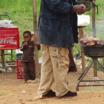 Street food (grilled meat) in Swaziland
