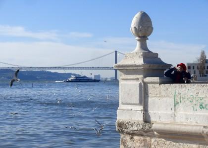 Tagus river, Bateaux Sur le Tage (Lisbon, Portugal)