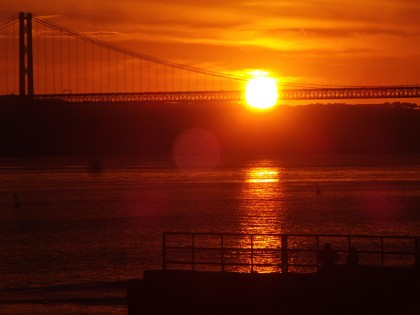 Tagus river, first sunset 2011 in Lisbon (Portugal)