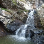 Tenerife waterfall and lagoon