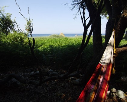 Travel style: being on the road (sleeping in hammock)
