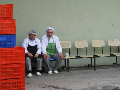 Turkish men on a coffea & cigarette break
