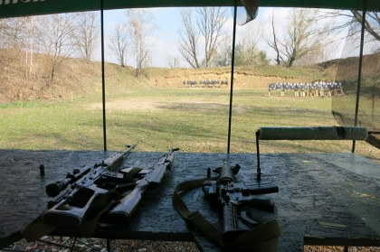 Ukraine shooting range: weapons
