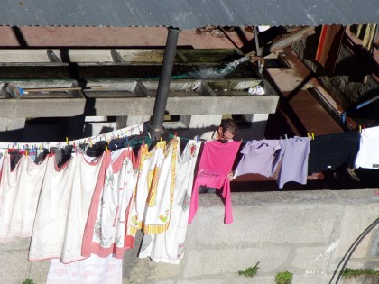 Washing clothes by hand, Porto (Portugal)