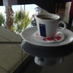 Ayia Napa coffee and palms