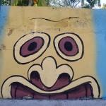 El Salvador street art: head