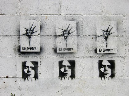 El Salvador street art: stencils