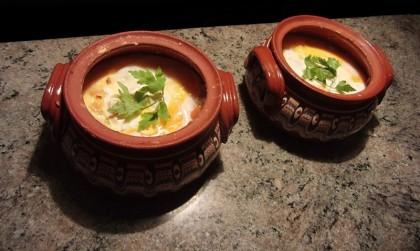 Sirene po Shopski - Bulgarian vegetarian recipe