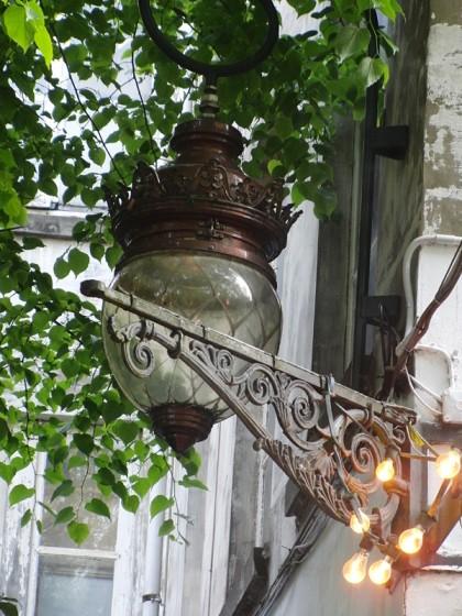 Beautiful lantern in pub
