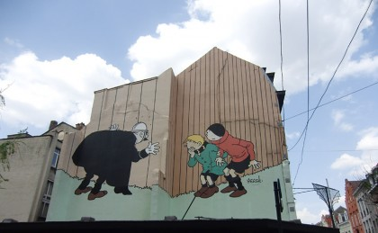 Belgian comics (mural street art)