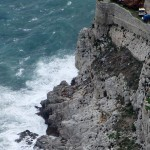 Big waves on coast, Gibraltar