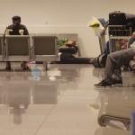 Brussels airport – sleeping people
