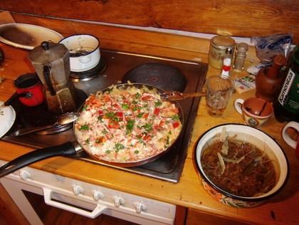 Bulgarian mish mash & homemade tea