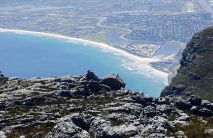 Cape Town beach seen from Table Mountain
