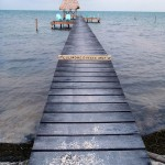 "Caye Caulker – private dock / ""beach"""