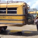 Chicken bus change wheel