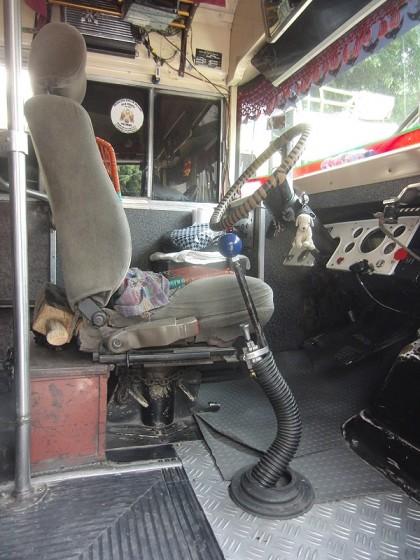 Chicken bus driver seat