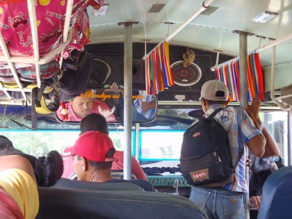 Chicken bus in Nicaragua decorated