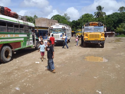 Chicken buses Central America