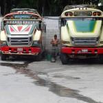 Chicken buses Guatemala