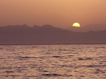 Dahab sunrise over Saudi Arabia