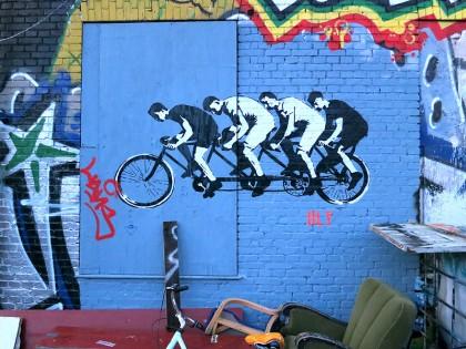 Street Art in Copenhagen, Denmark (13) Bicyclers