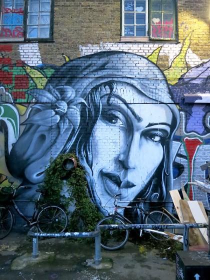 Street Art in Copenhagen, Denmark (14) Woman