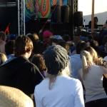 Dj at sunrise, psytrance festival