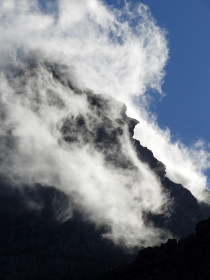 Dramatic mountain clouds South Africa