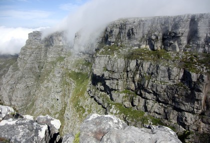 Heavy fog from Table Mountain top