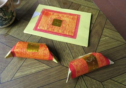 Johor Bahru to Kuala Lumpur - Melaka - golden paper for luck