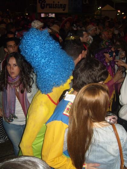 Marge Simpson costume, Las Palmas de Gran Canaria