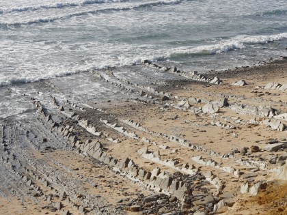 Neck of mountain plate going into the sea, Tarifa