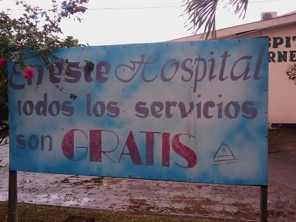 Nicaragua hospital; Free health care