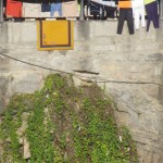 Outdoor laundry drying line, Porto (Portugal)