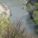 Rafting seen from above