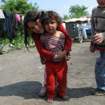 roma children in gypsy camp