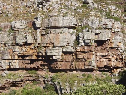 Sandstone rocks Cape Town Table Mountain