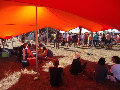 Shadow chill out tent at psyfestival