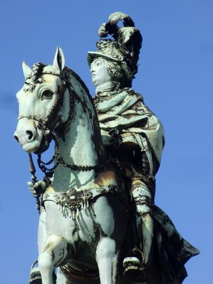 Statue king Jose Lisbon, Portugal